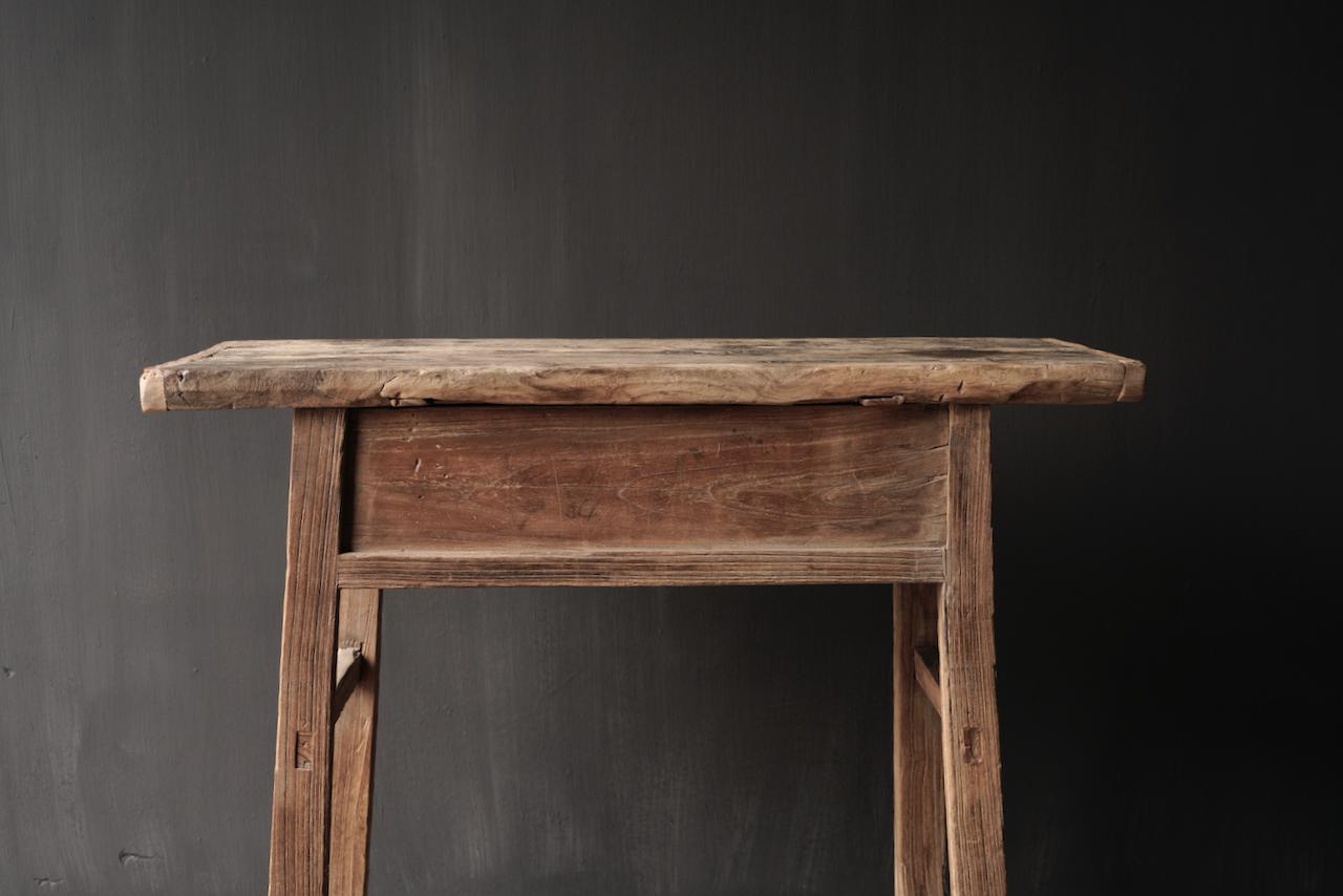 Authentischer einzigartiger alter schmaler Beistelltisch / Wandtisch-7