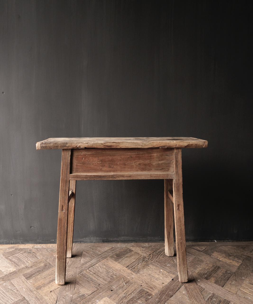 Authentischer einzigartiger alter schmaler Beistelltisch / Wandtisch-8