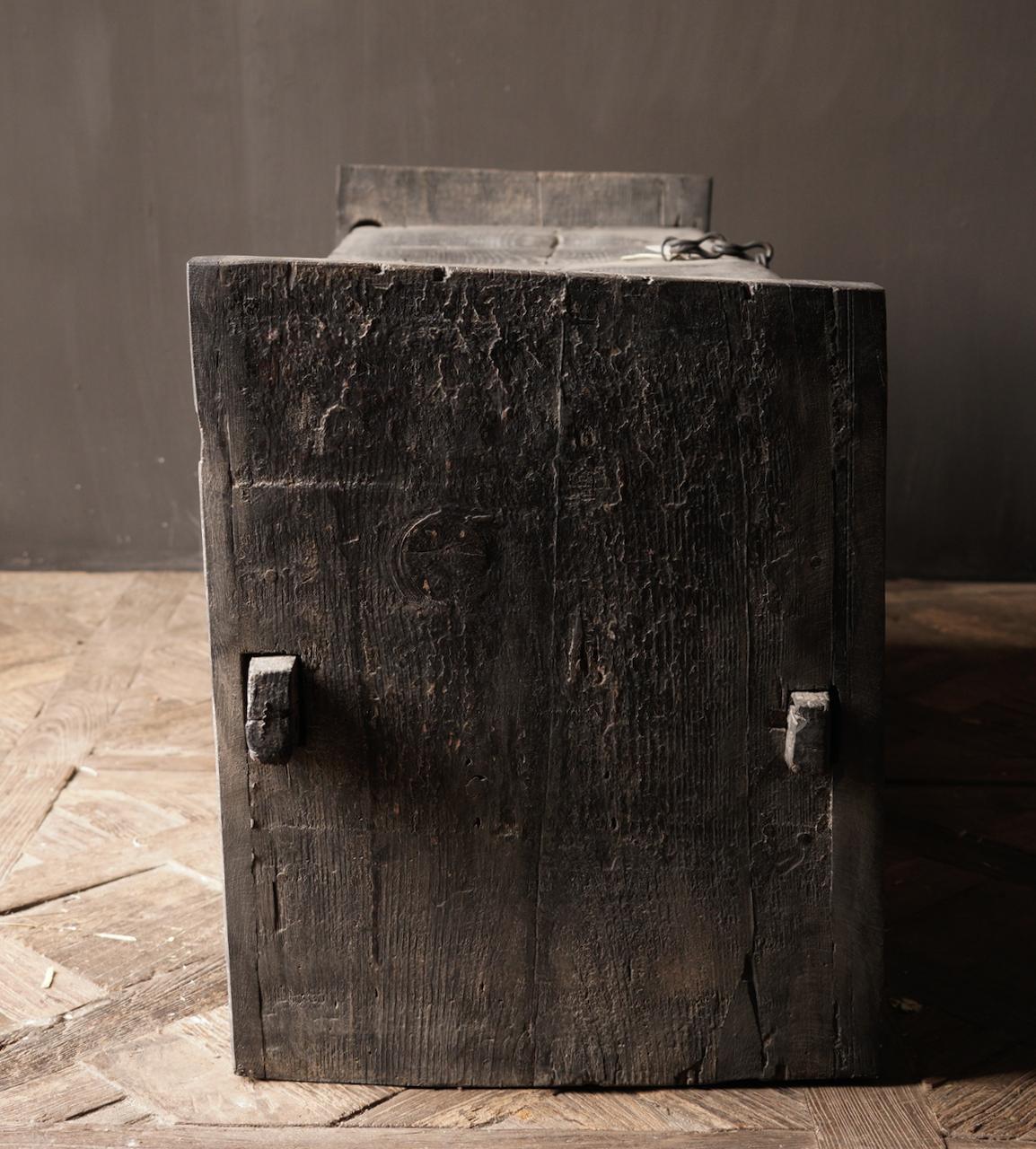 Tough old black Himalaya Chest / Box-6