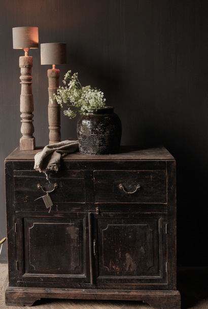 Old authentic wooden cupboard