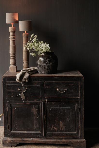 Oud Authentiek houten  kastje