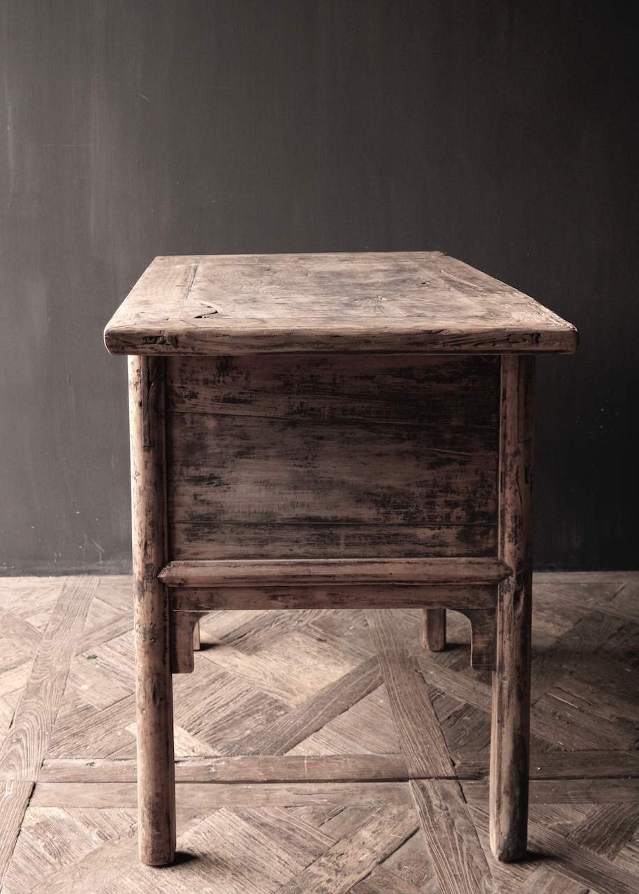 Authentic Unique old wall table / Side table / Bathroom furniture with drawers-3