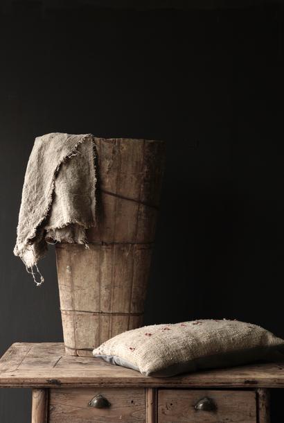Originele Grote oude houten Bak