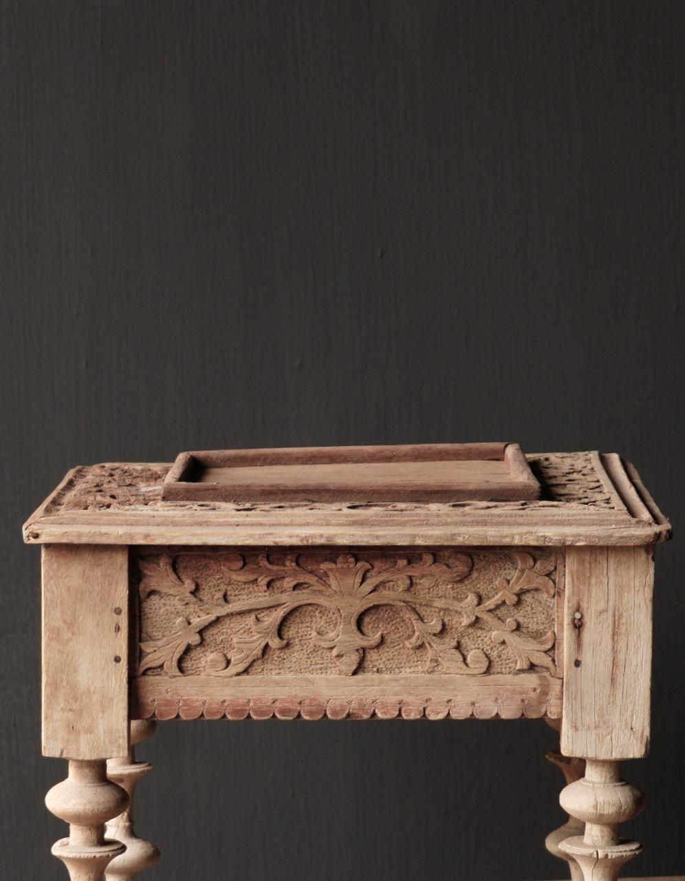 Unique Old Authentic wooden mini table-7
