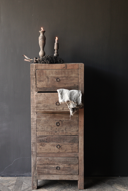 * Reserved * Tough Robust Drawer cabinet made of old wood