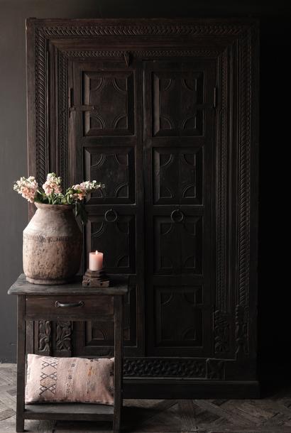 Old Unique Indian (Wabi Sabi) cupboard two doors