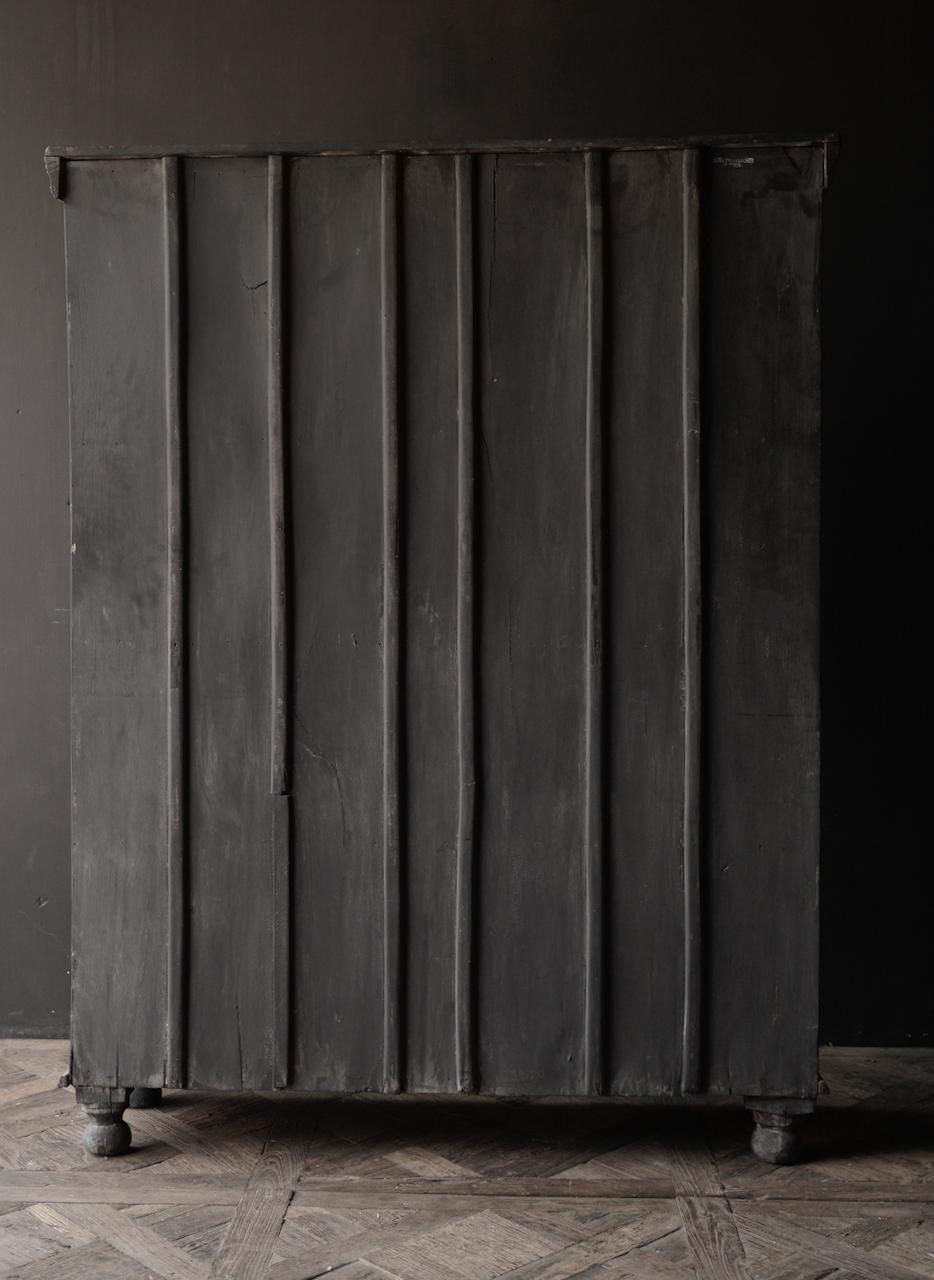 Stoer Indisch antiek houten Vitrine kast-7