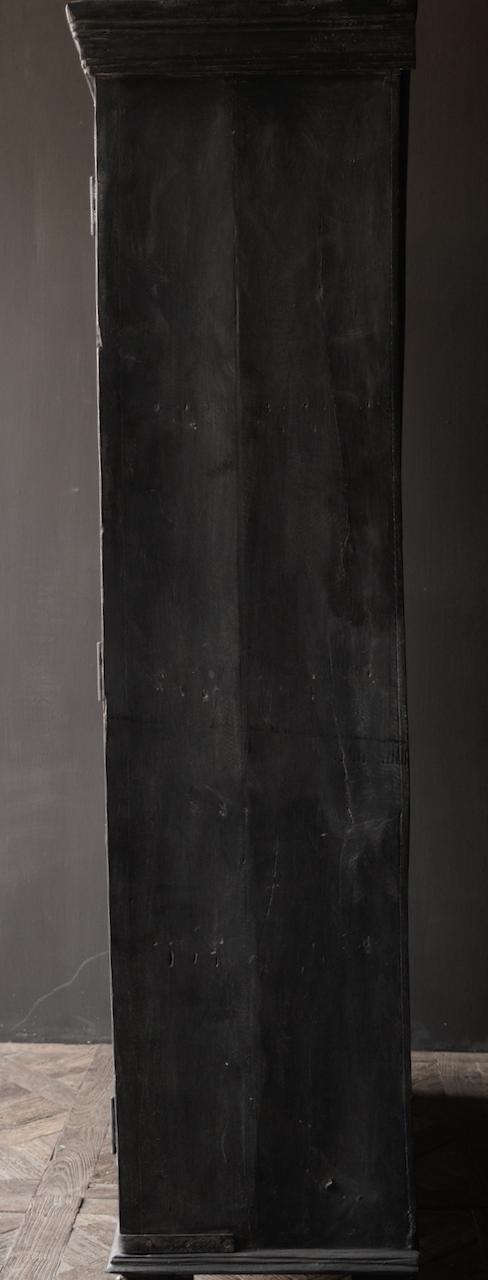 Stoer Indisch antiek houten Vitrine kast-8