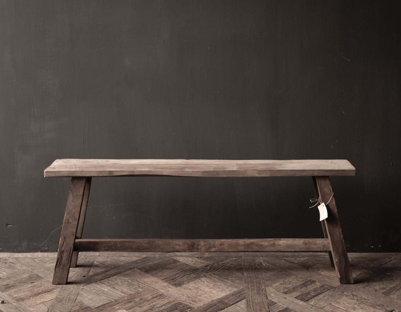 Tough robust Bench made of old wood-4