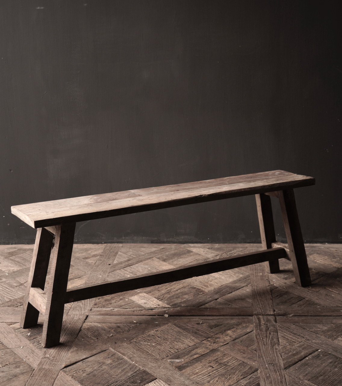 Tough robust Bench made of old wood-5