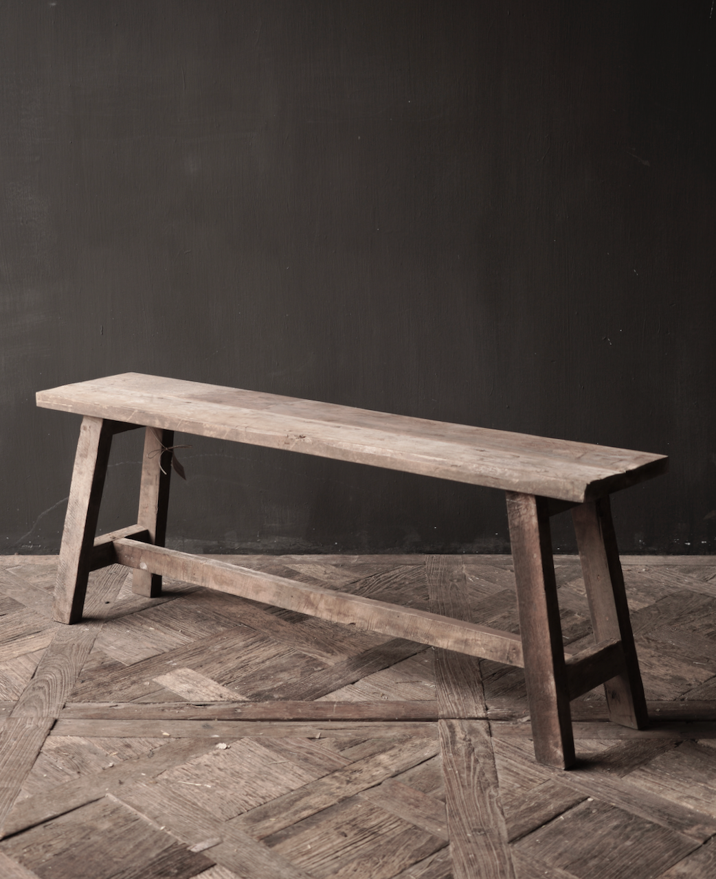 Tough robust Bench made of old wood-6