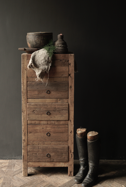Stoer Robuust Laden kastje van oud hout