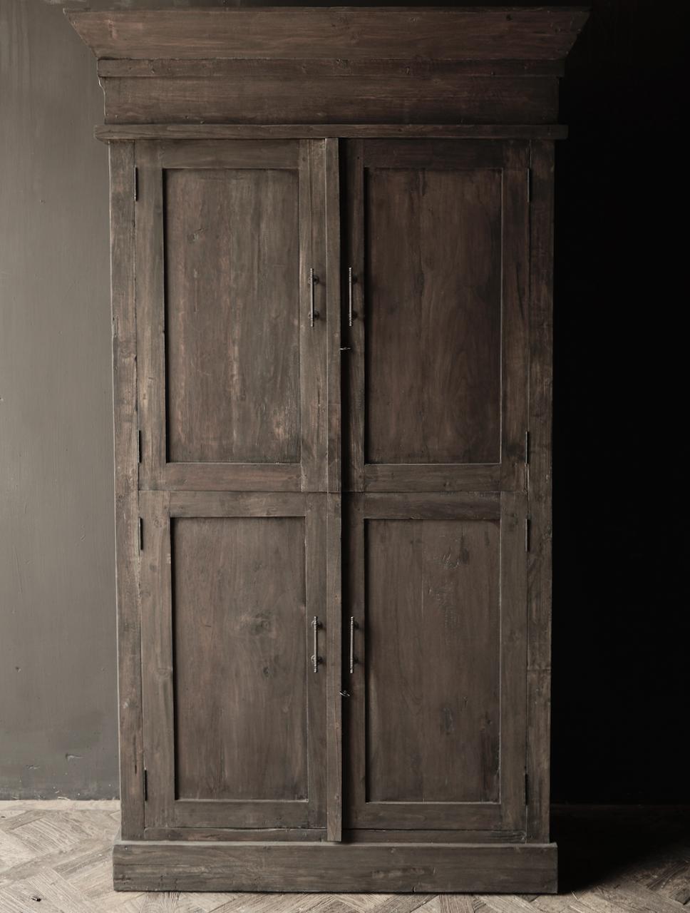 Schöner Tough Rural alter Holzschrank vier Türen-2
