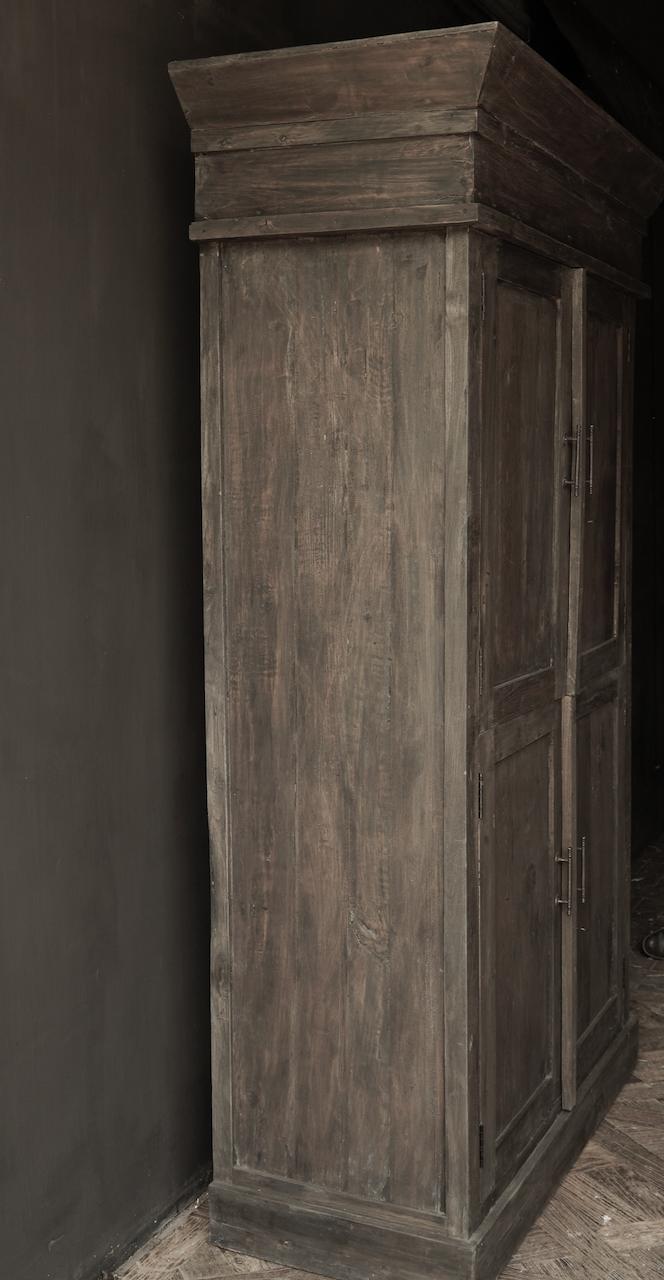 Schöner Tough Rural alter Holzschrank vier Türen-3