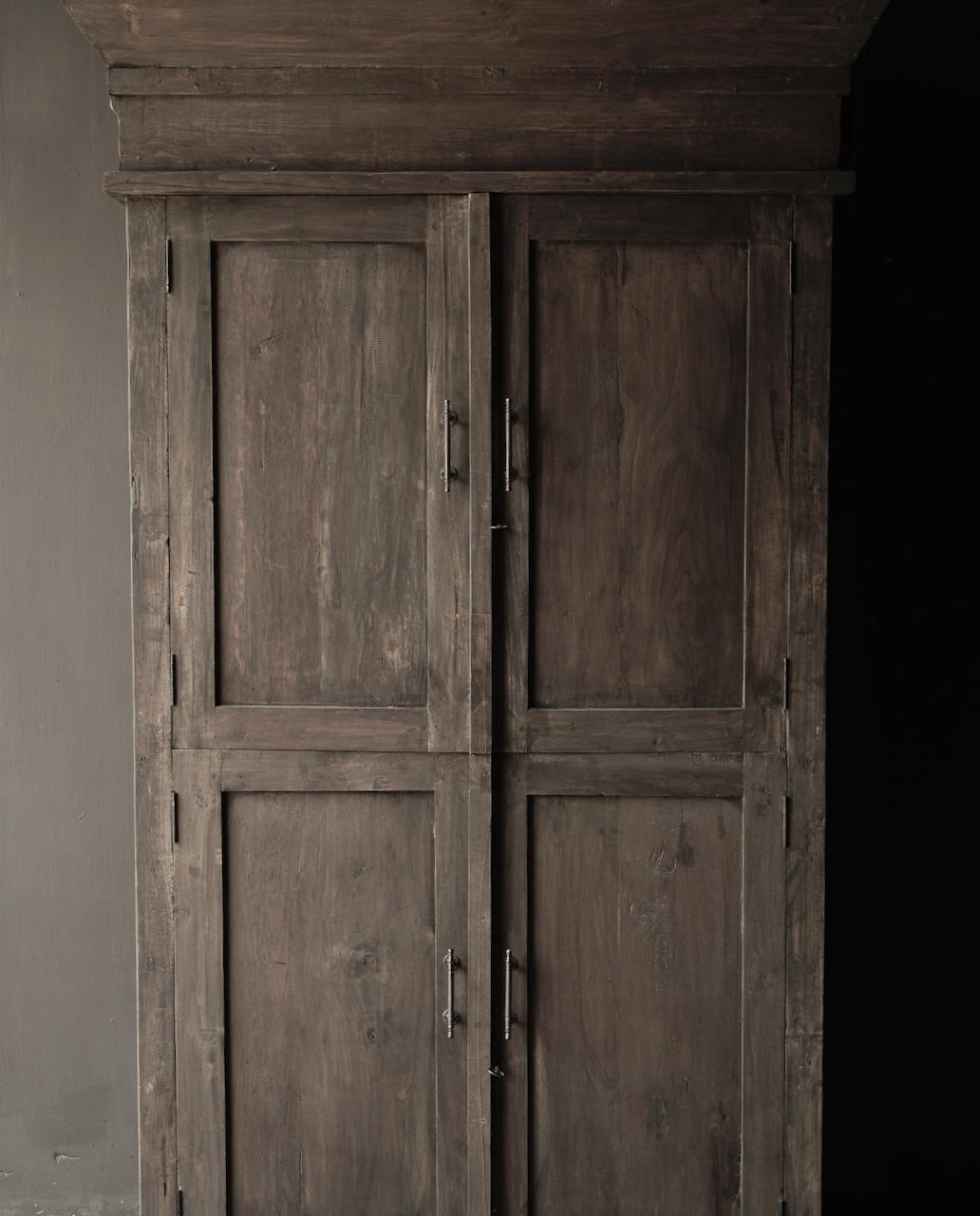 Schöner Tough Rural alter Holzschrank vier Türen-4