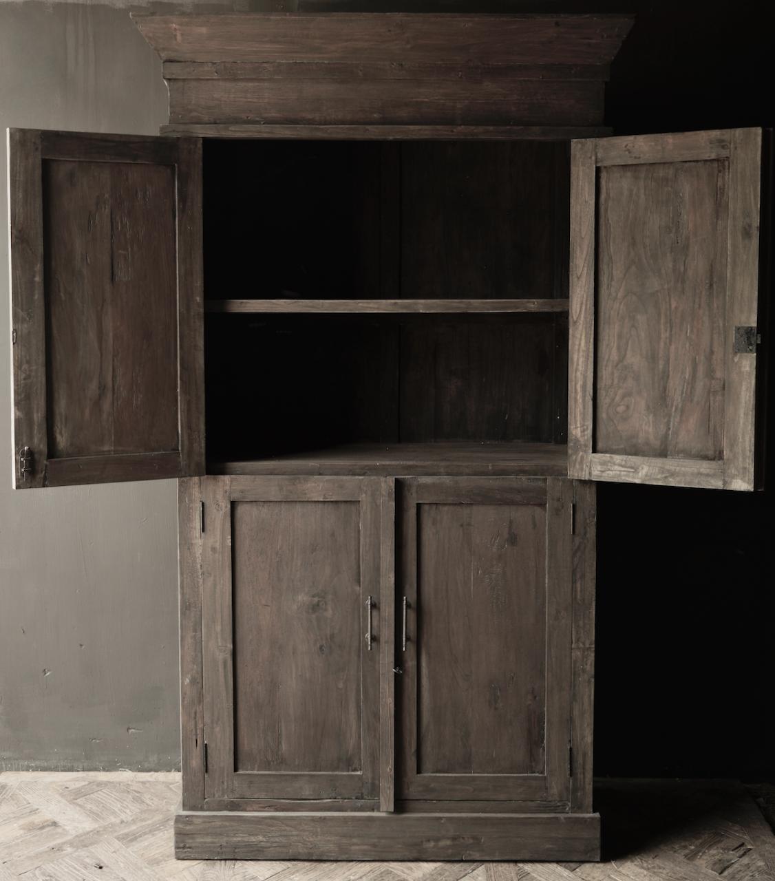Schöner Tough Rural alter Holzschrank vier Türen-7