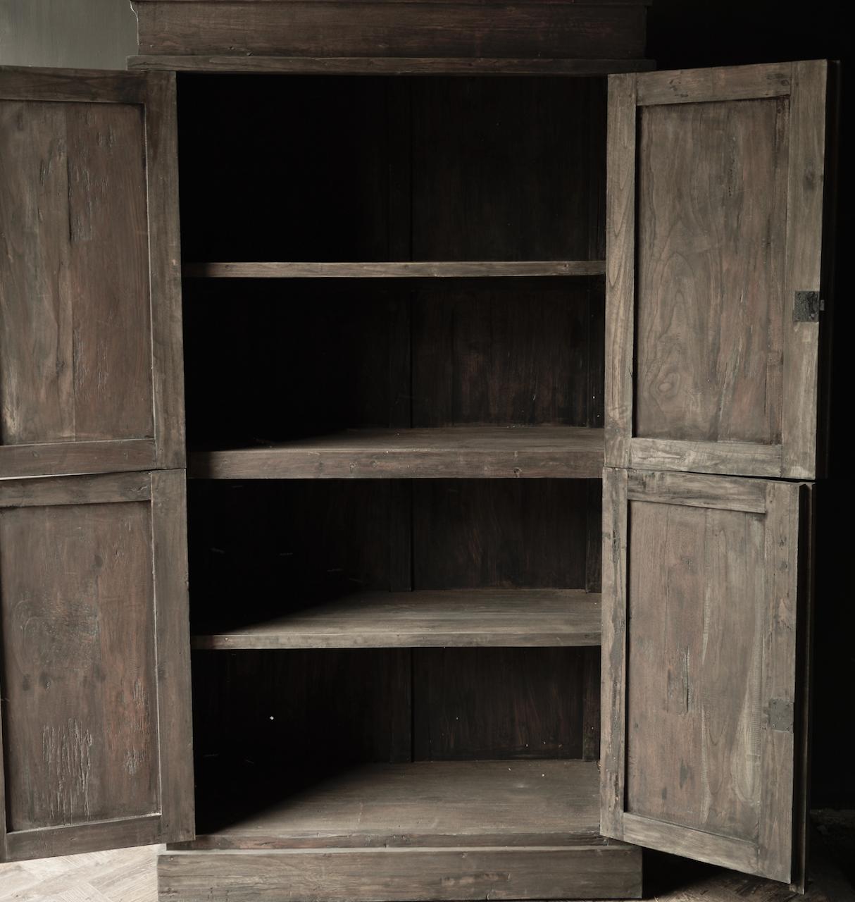 Schöner Tough Rural alter Holzschrank vier Türen-8