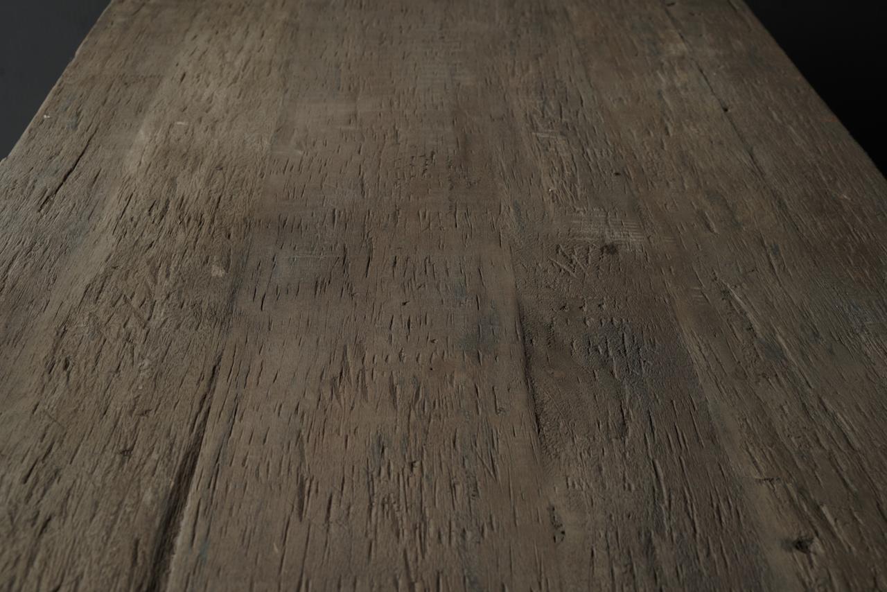 Robuster alter Esszimmertisch aus Holz mit A-Bein 240x100cm-4