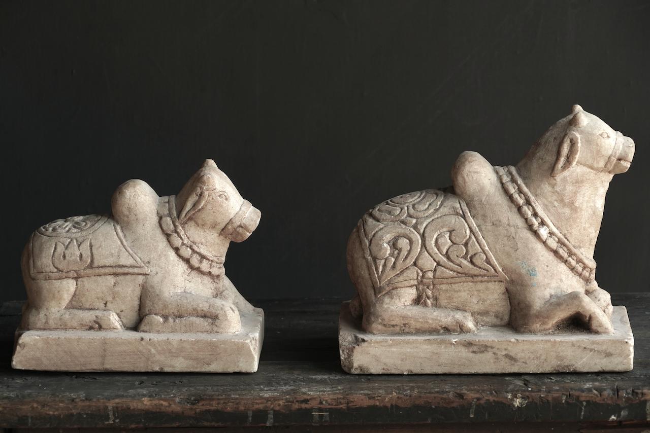 Unique Antiques Old Authentic natural stones Nandi-6