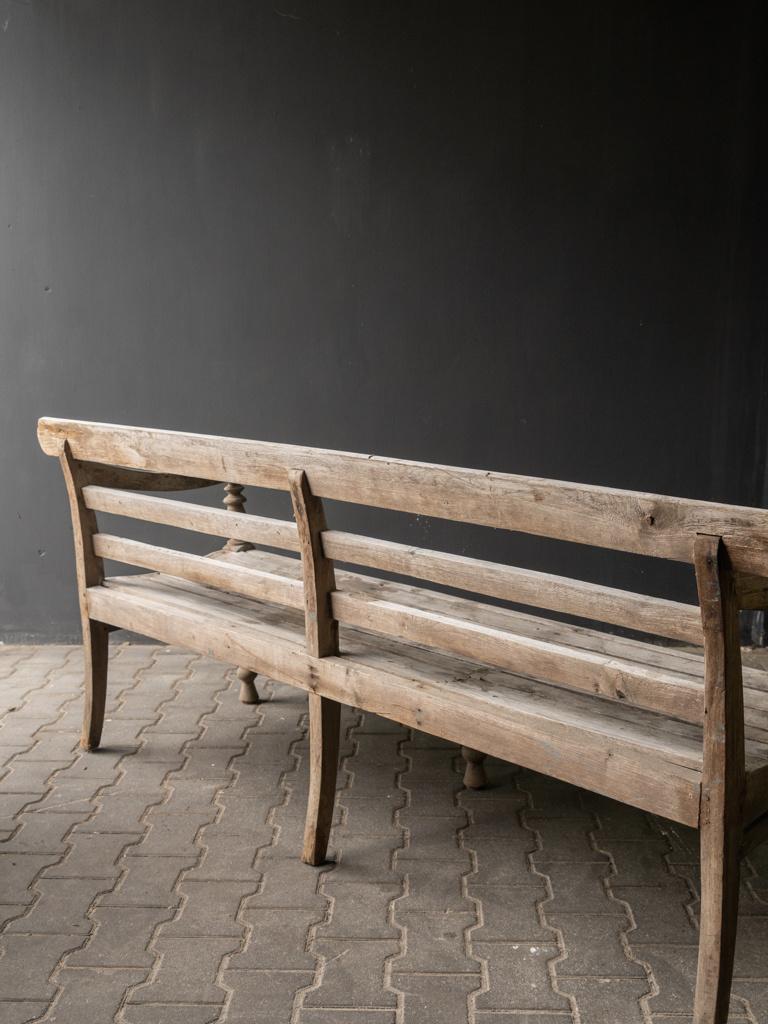 Authentische alte Holzbank-4