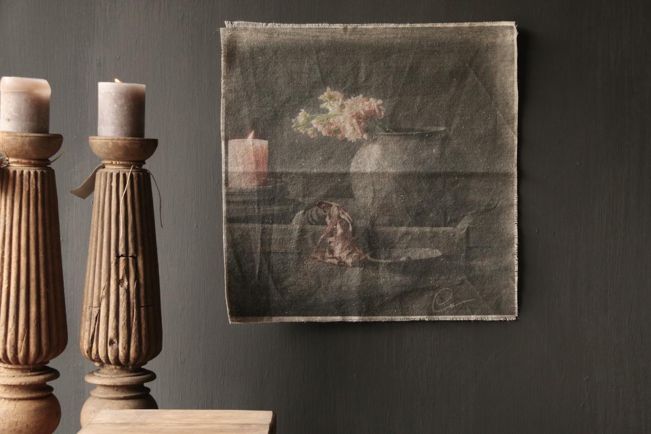 Tough sturdy linen wall hanging photo cloth-2