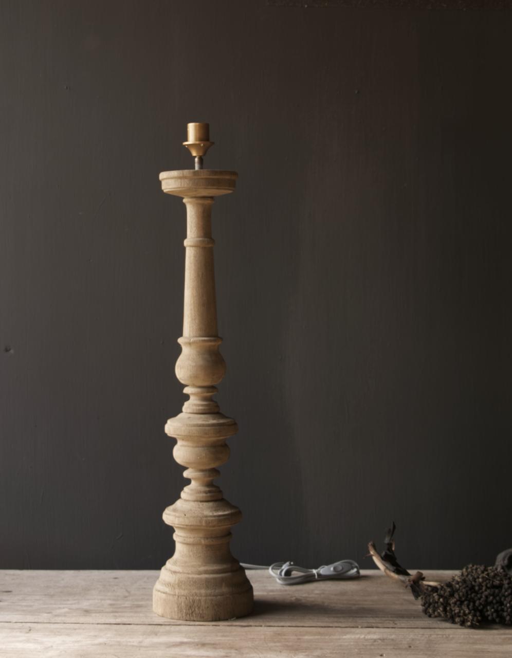 Eiken  Houten baluster lamp voet-8