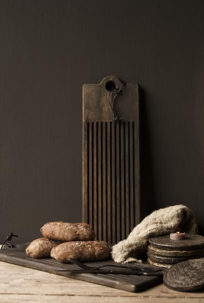 Houten broodplank / Snijplank  met sleuven