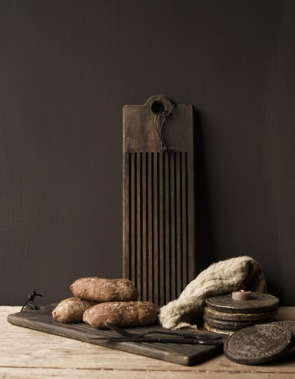 Houten broodplank / Snijplank  met sleuven-1