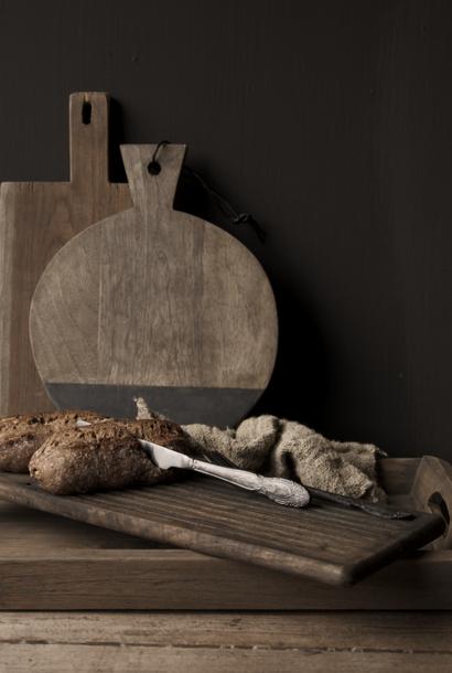Runder Tapasteller Holz mit Stein