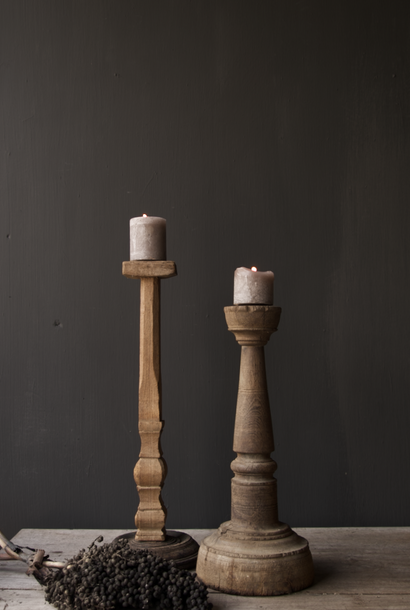 Tough old Wooden candlestick