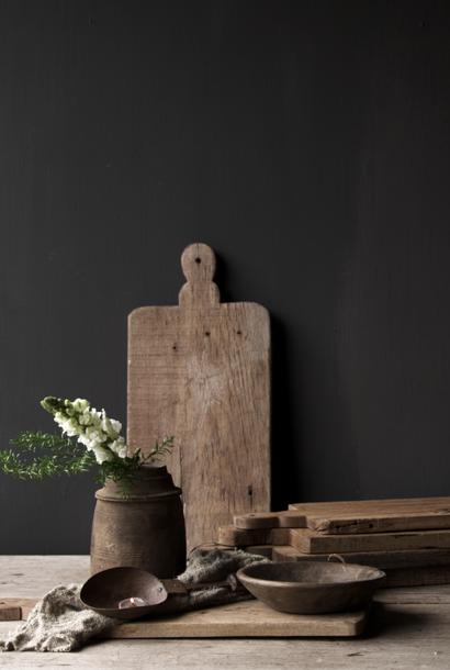 Old wooden bread board / cutting board
