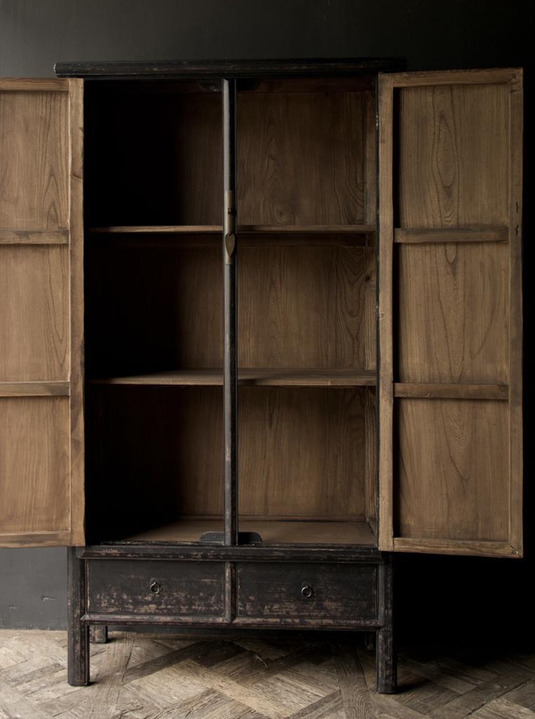 Schöner Tough Rural alter Holzschrank mit zwei Türen-3