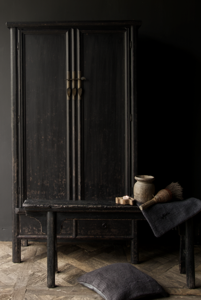 Beautiful Tough Rural old wooden two-door cabinet