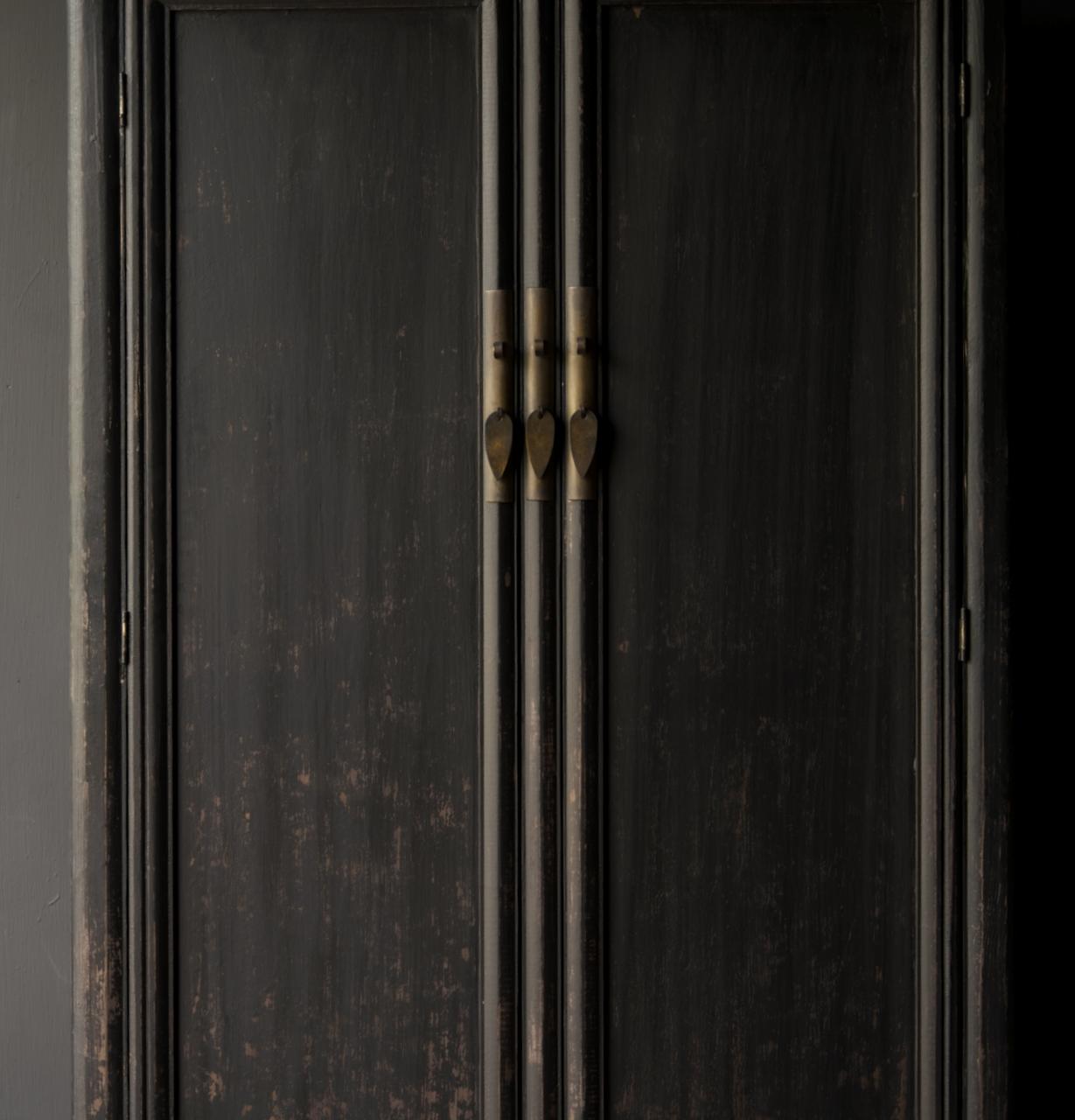 Schöner Tough Rural alter Holzschrank mit zwei Türen-2