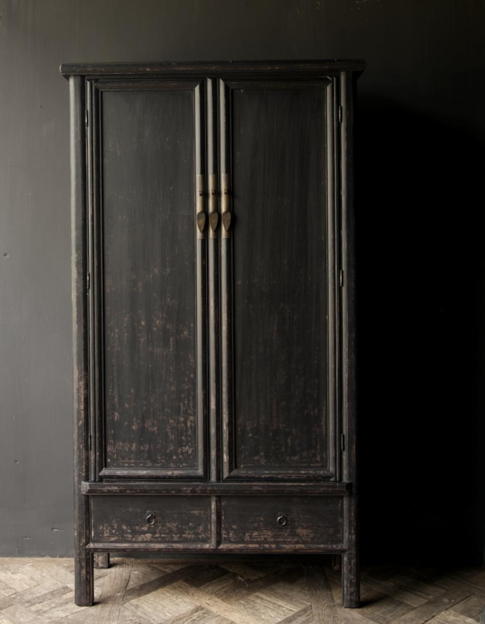 Schöner Tough Rural alter Holzschrank mit zwei Türen-4