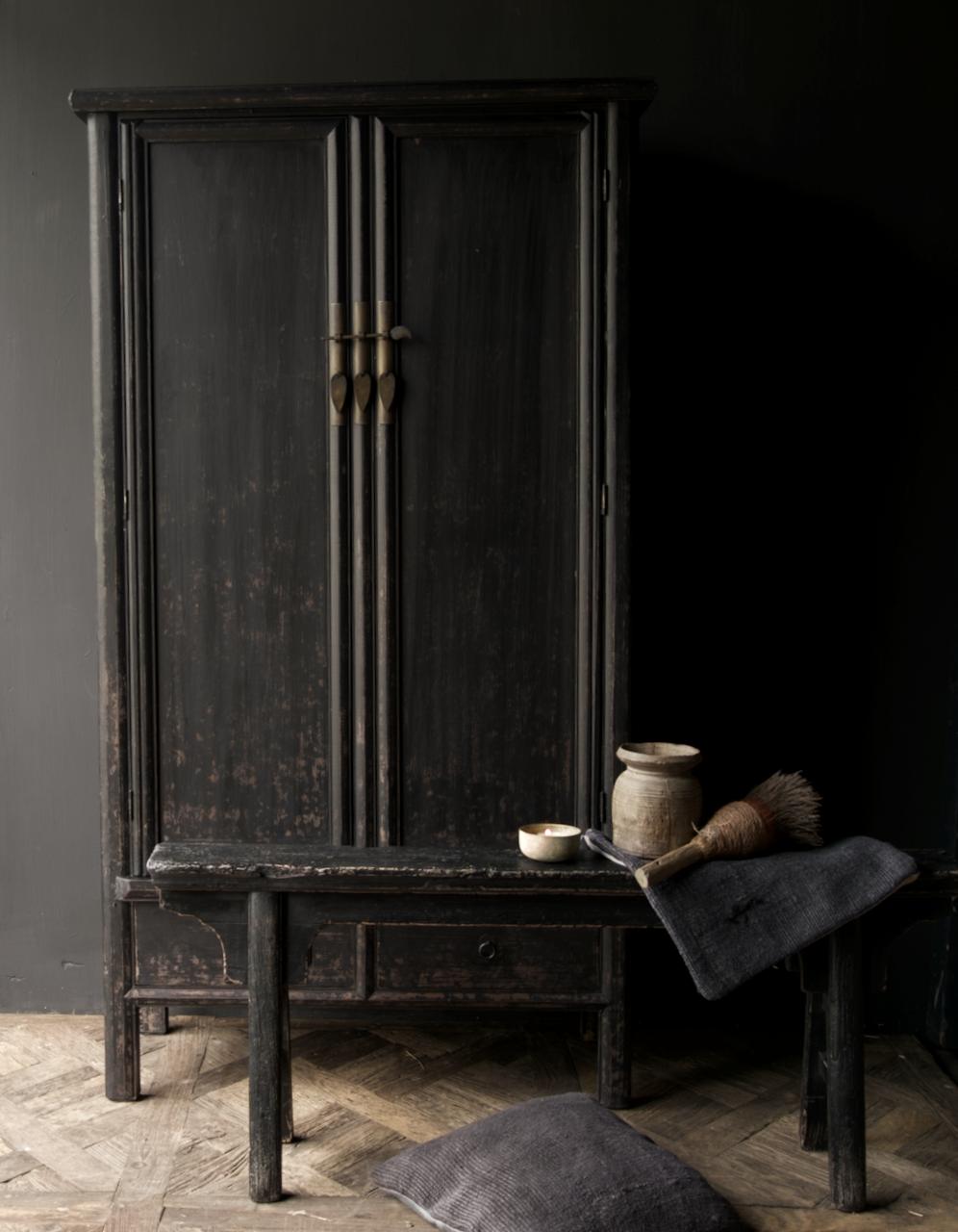 Schöner Tough Rural alter Holzschrank mit zwei Türen-6