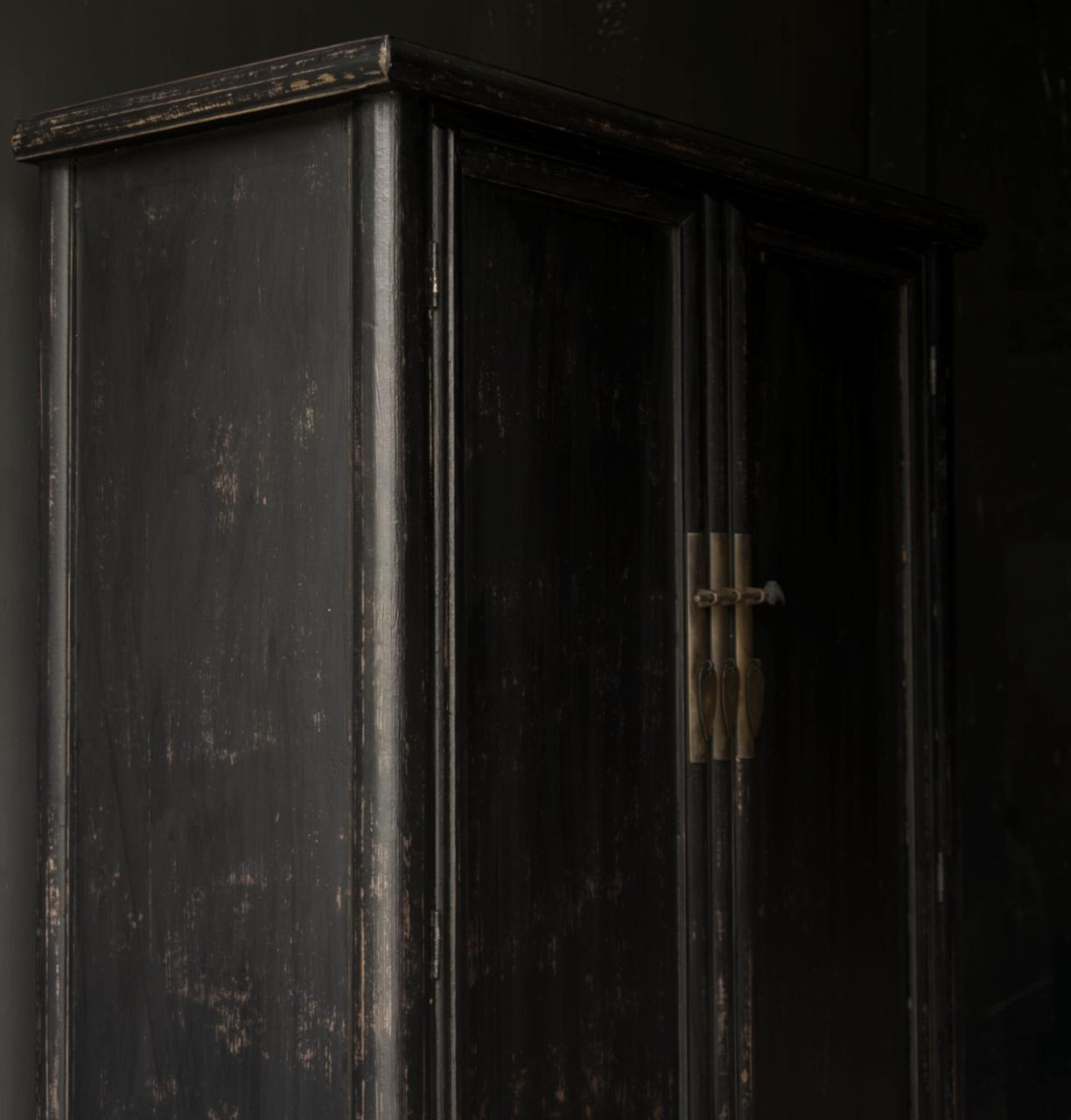 Schöner Tough Rural alter Holzschrank mit zwei Türen-7