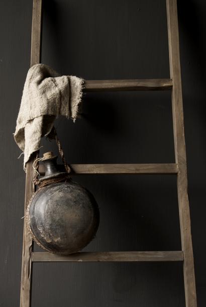 Antiek Uniek Oude Indische Sural fles