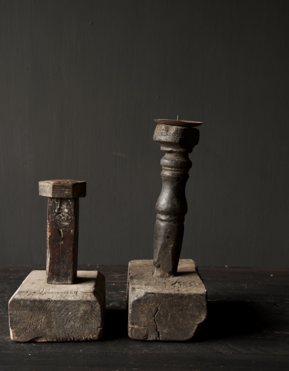 Tough old Wooden candlestick-5