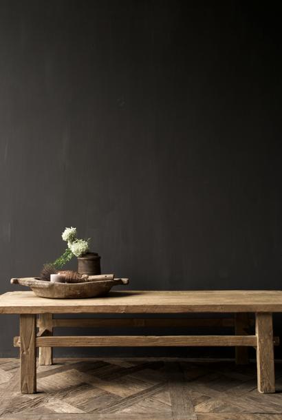Salontafel gemaakt in India van oud  blank gebruikt hout