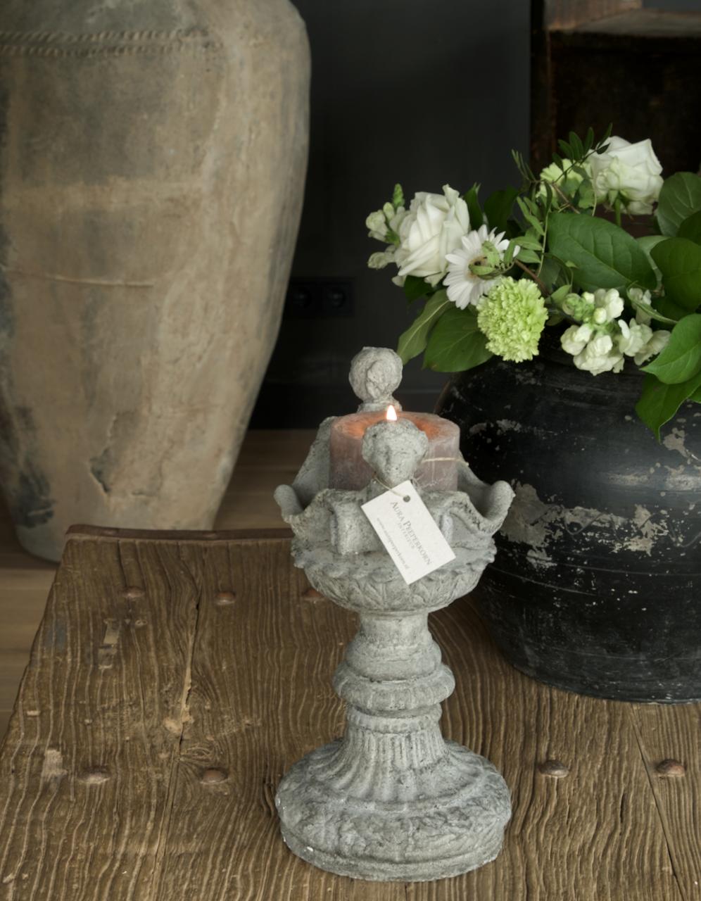 Betonvase / Kerzenständer-3
