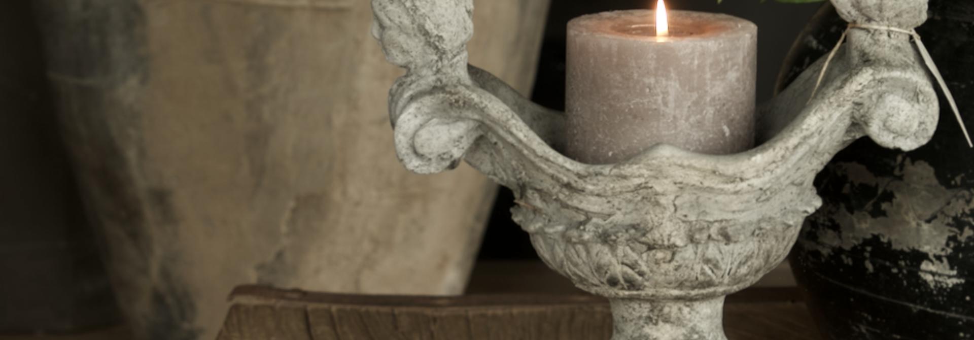 Betonvase / Kerzenständer