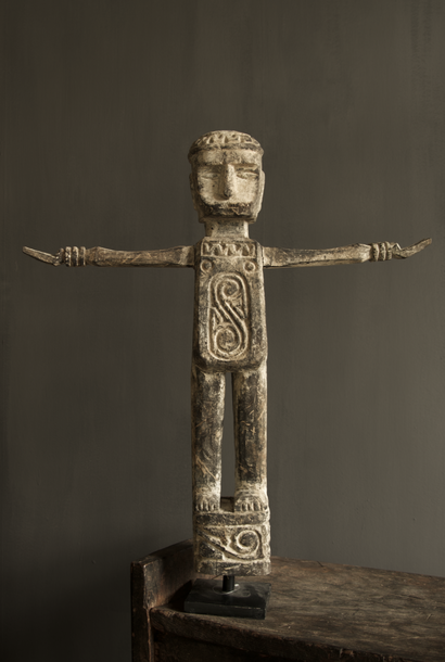 Unique wooden statue India