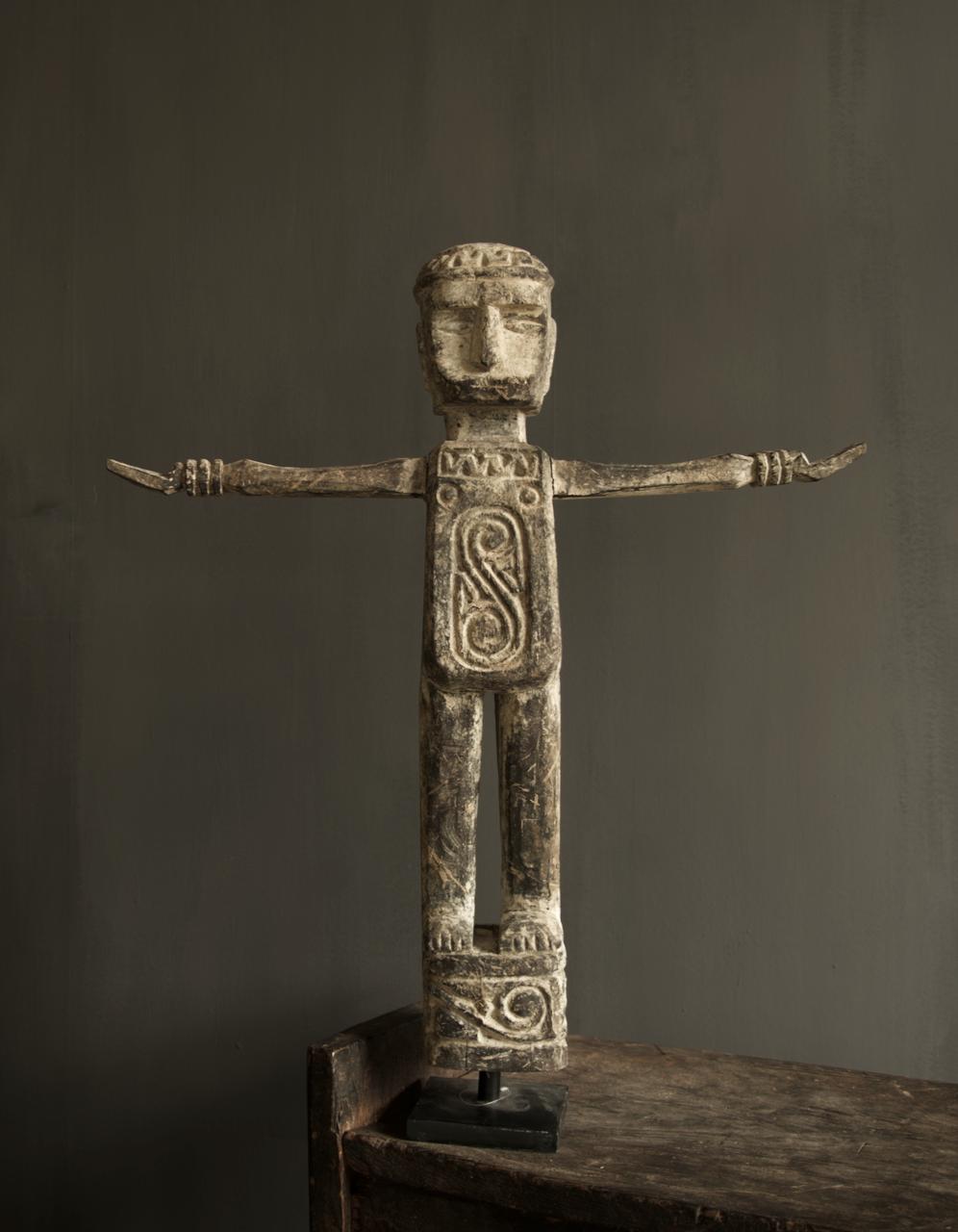Einzigartige Holzstatue Indien-1