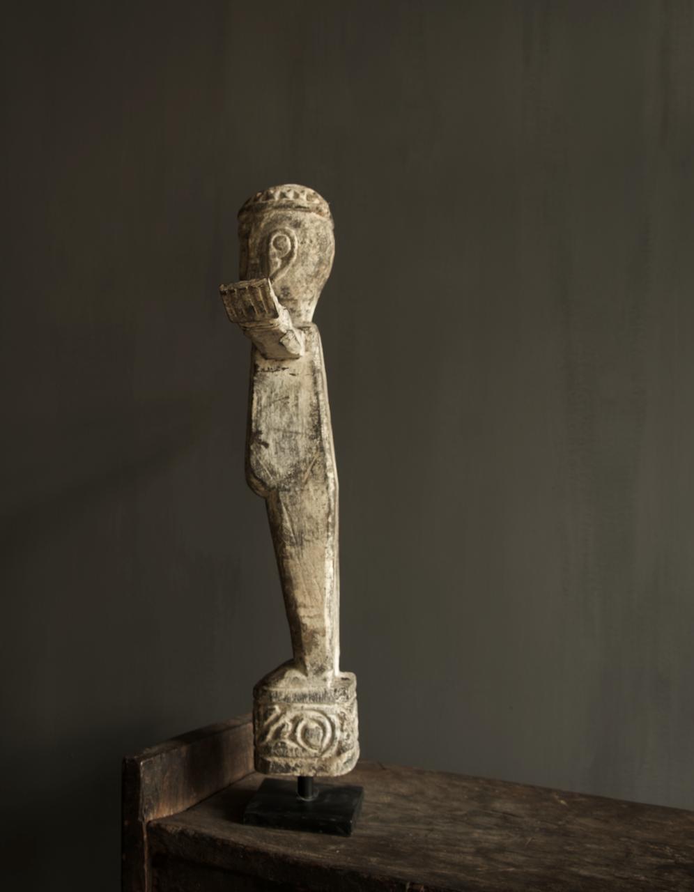 Einzigartige Holzstatue Indien-2