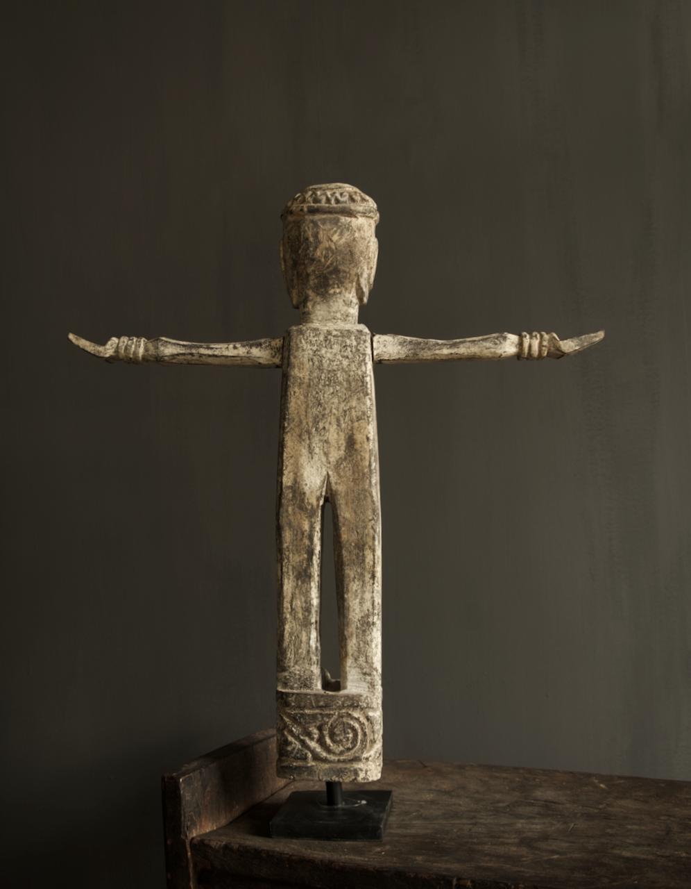 Einzigartige Holzstatue Indien-3
