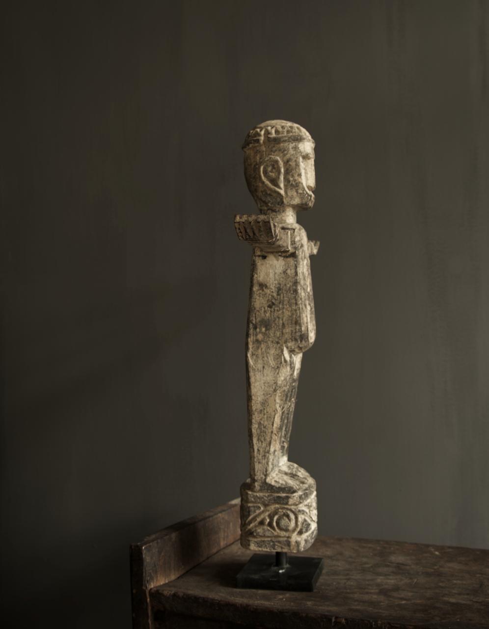 Einzigartige Holzstatue Indien-4