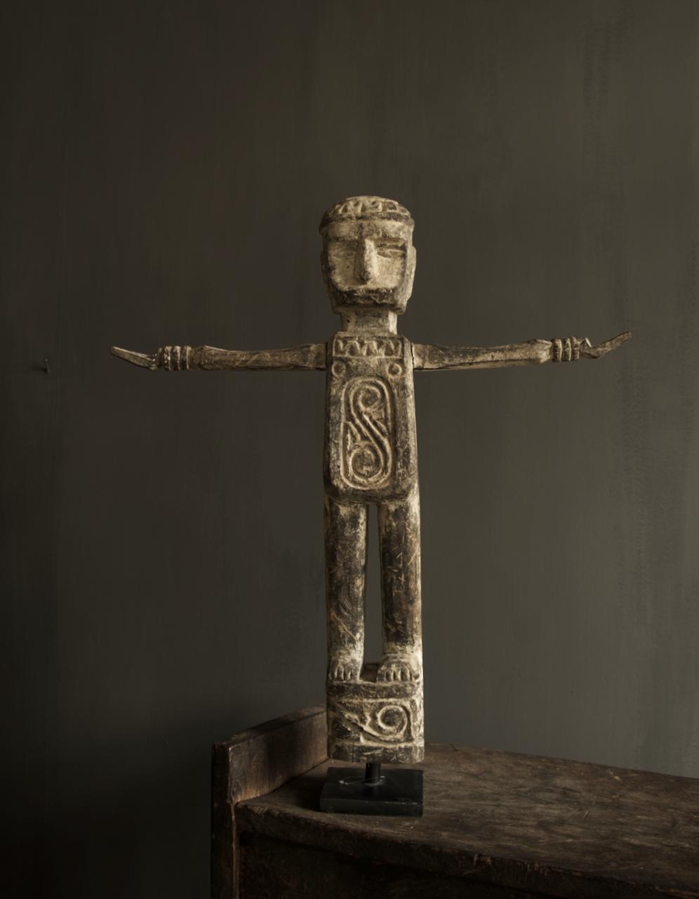 Einzigartige Holzstatue Indien-5