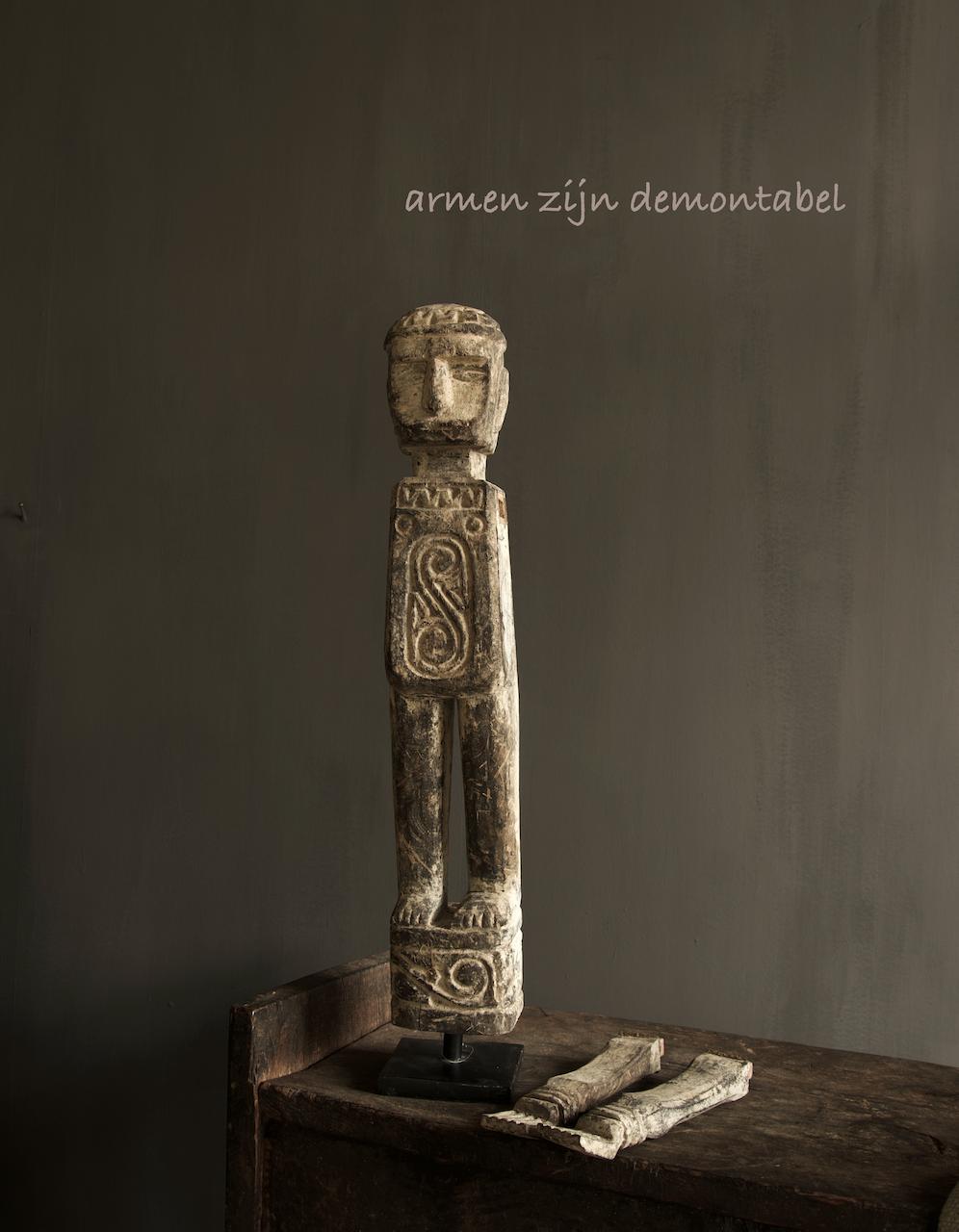 Einzigartige Holzstatue Indien-7