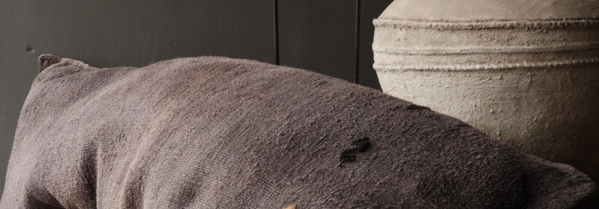 Beautiful Tough grob gewebtes Kissen (Getreidebeutel)